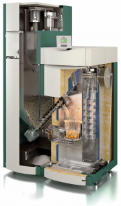 Pellergy Alpha Wood Pellet Boiler cut-away