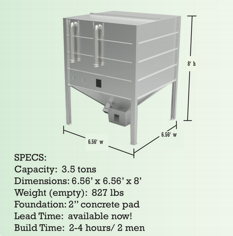 This Bin has standard 4 inch fill connections for pellet delivery via pneumatic truck or can be loaded manually from 40 pound bags.  sc 1 st  Pellergy & Pellergy | Outdoor Residential Wood Pellet Storage Bins